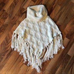 barona Jackets & Coats - Barona • Chunky Knit Cowl Neck Shawl/Poncho
